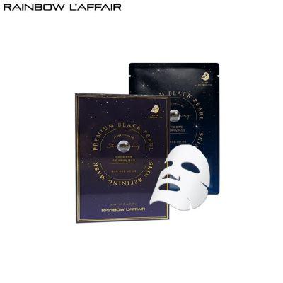 [TẶNG 1 SỮA RỬA MẶT 150ml] Hộp 10 Mặt Nạ Ngọc Trai Chống Lão Hóa, Ngừa Mụn - Ung Thư Da Rainbow L'affair Premium Black Pearl Skin Refining Mask 300ml