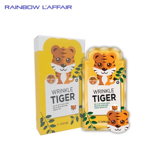 [TẶNG SỮA RỮA MẶT 150ML] Hộp 10 mặt nạ chống nhăn - giữ ẩm - săn chắc da Rainbow L'affair Wrinkle Tiger Mask 250ml