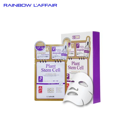 [TẶNG SỮA RỮA MẶT 150ML] 10combo mặt nạ cho da sau lăn kim - laser - peel Rainbow L'affair Plant Stem Cell (10 bộ x 28ml)