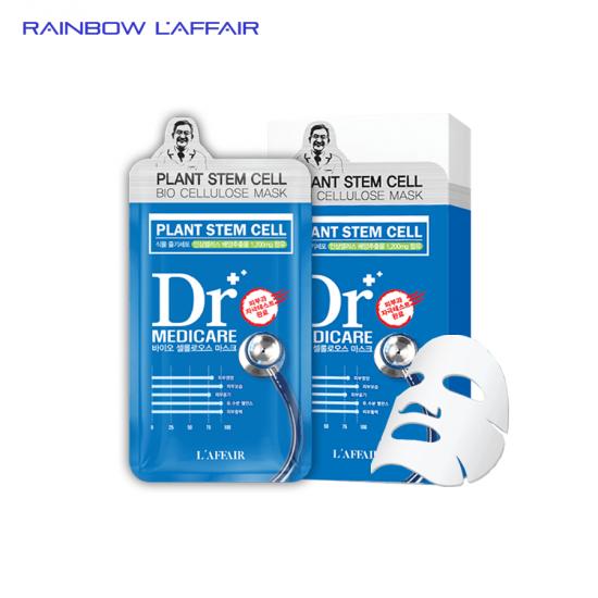 [CHÁY HÀNG] Hộp 10 mặt nạ sinh học tế bào gốc nhân sâm tái tạo - phục hồi - trẻ hóa da Rainbow L'affair Dr Medicare Plant Stem Cell Bio Cellulose 250ml
