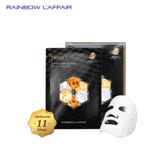 [TẶNG SỮA RỮA MẶT 150ML] Hộp 11 Mặt Nạ Chống Lão Hóa - Mờ Thâm Nám - Giữ Ẩm Rainbow L'affair Honey Mask 330ml