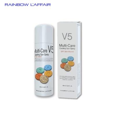 [TẶNG 1 SỮA RỬA MẶT 150ml] Xịt chống nắng  thế hệ mới, lai hóa học & vật lí Rainbow L'affair Multi-Care V5 Cooling Sun Spray SPF50+ PA+++