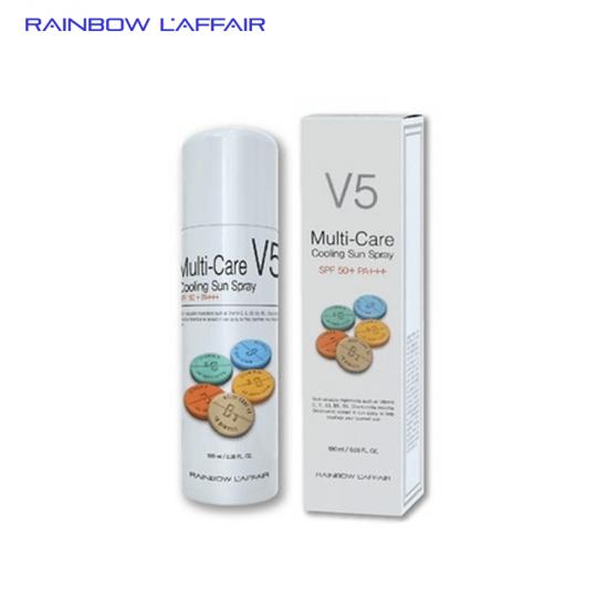[CHÁY HÀNG] Xịt chống nắng  thế hệ mới, lai hóa học & vật lí Rainbow L'affair Multi-Care V5 Cooling Sun Spray SPF50+ PA+++