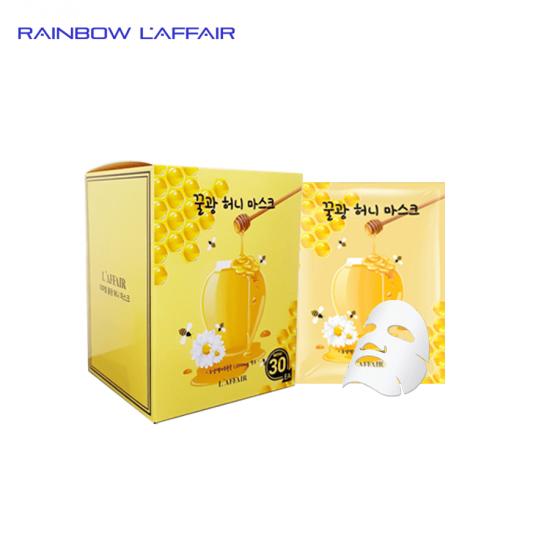 [TẶNG SỮA RỮA MẶT 150ML] Hộp 30 Mặt nạ chống lão hóa, ngăn ngừa mụn Rainbow L'affair Honey Mask 750ml