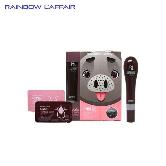 [TẶNG SỮA RỮA MẶT 150ML] Bộ 10 lần lột mụn mũi Rainbow L'affair Nose Black Head Clear Pack