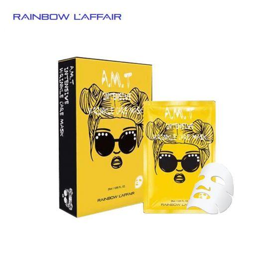 [TẶNG SỮA RỮA MẶT 150ML] Hộp 10 mặt nạ chống nhăn - giữ ẩm - săn chắc da Rainbow Laffair AMT Intensive Wringkle care Mask 250ml