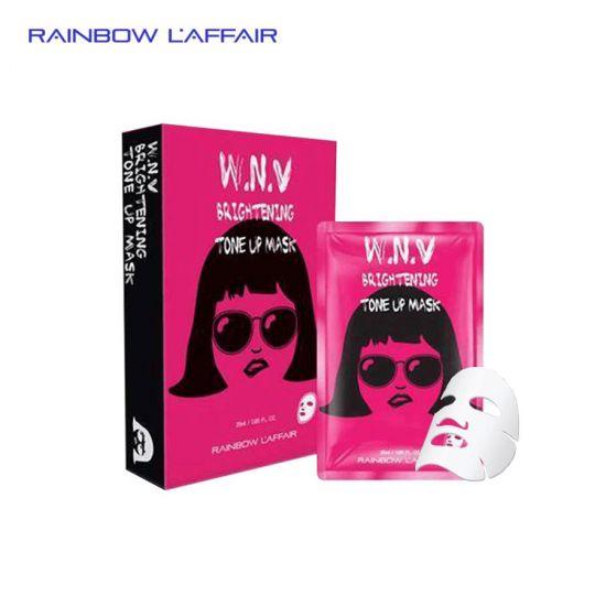 Hộp 10 mặt nạ dưỡng trắng - tái tạo - trẻ hóa da Rainbow Laffair WNV Brighting Tone Up 250ml